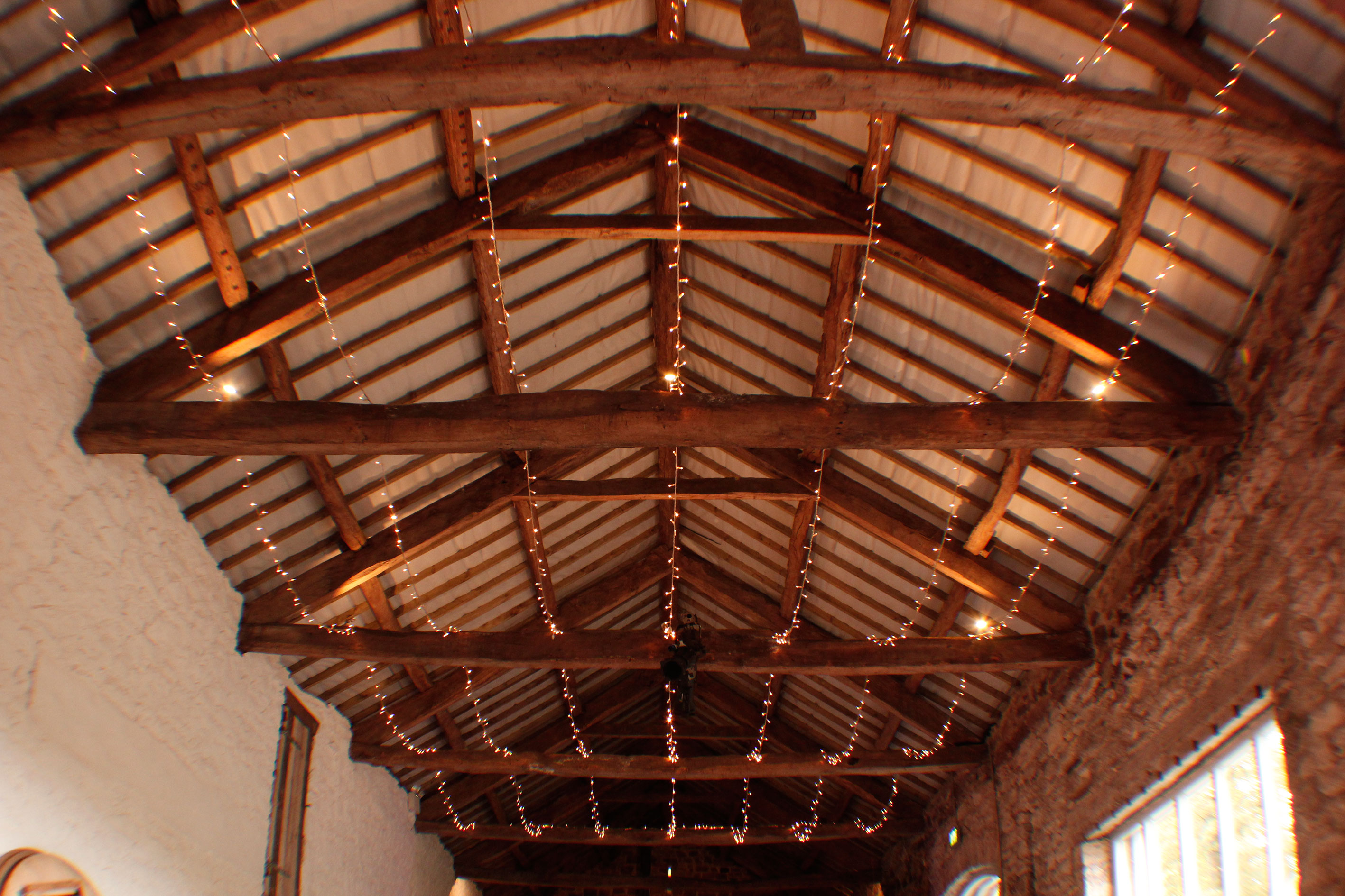 ... Fairy-Light-Roof-Askham-Hall-Barn-Wedding-SVLHire & Askham Hall Wedding Lighting - SVL Hire azcodes.com